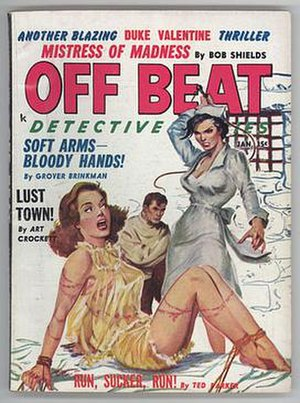 Carl Pfeufer - Image: Off Beat Detective Stories Jan 1961 Pfeufer