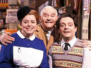 Lynda Baron, Ronnie Barker, and David Jason.