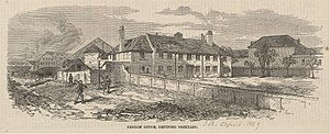 Sayes Court - The Pension Office, Deptford Dockyard, in 1869.
