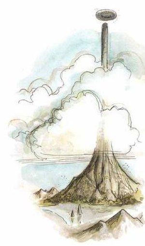Planescape - A view of the Spire and Sigil from Outlands