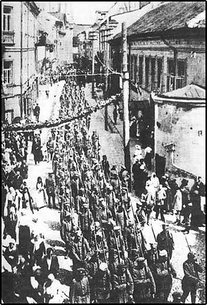 Vilna offensive - Image: Polish army in Wilno 1919