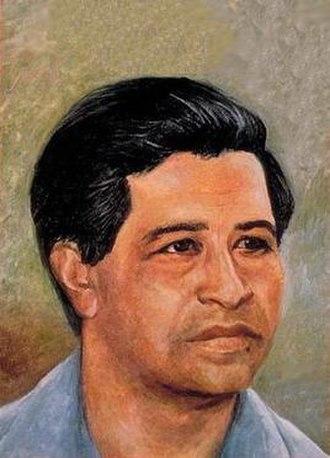 Manuel Gregorio Acosta - Portrait of labor leader César Chávez by 'Manuel Gregorio Acosta', 1969