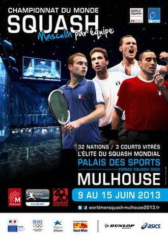 2013 Men's World Team Squash Championships - Poster of Men's World Squash Team 2013