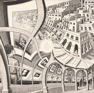Print Gallery (M. C. Escher) - Lithograph Print Gallery by M. C. Escher, 1956