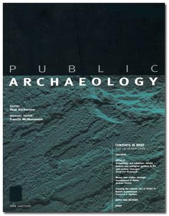 Public Archaeology (journal) - Image: Public Archaeology cover