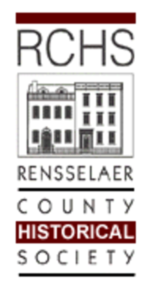 Rensselaer County Historical Society - RCHS Logo incorporating the Hart-Cluett and Carr Houses