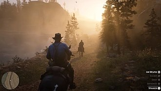 Red Dead Redemption 2 - The player may choose to respond positively or negatively to non-playable characters throughout the game world, which affects their reputation within the game.