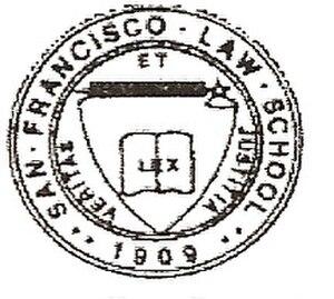 San Francisco Law School - Image: San Francisco Law School seal