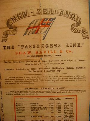 A poster of the Shaw, Savill & Albion Line pro...