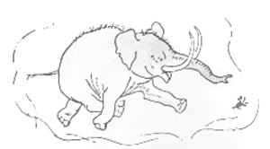 "Heffalump - Piglet dreams of the Heffalump. E. H. Shepard's original illustration, from Winnie-the-Pooh, shows the ""elephant"" inspiration"