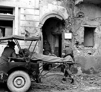 16th (Parachute) Field Ambulance - Ambulance jeep fitted with litters for carrying wounded