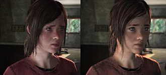 Development of The Last of Us - A comparison of the original (left) and final (right) designs of Ellie. The redesign was done to make the character more similar to actress Ashley Johnson.