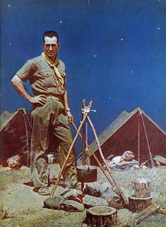 <i>The Scoutmaster</i> Norman Rockwell painting