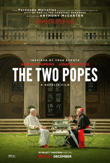 <i>The Two Popes</i> 2019 biographical drama film by Fernando Meirelles