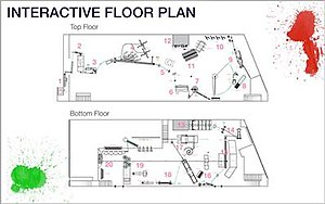 This Too Shall Pass (OK Go song) - The floor plan for the Rube Goldberg machine used in the video covered two floors of a warehouse and had several distinct stations that worked in time with the music.