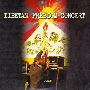Tibetan Freedom Concert - Cover art for the album Tibetan Freedom Concert with Flag of Tibet background