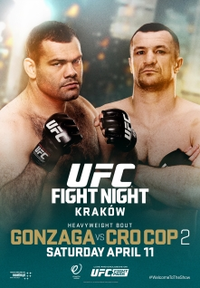 A poster or logo for UFC Fight Night: Gonzaga vs. Cro Cop 2.