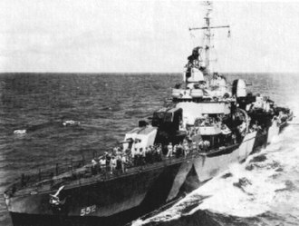 World War II ship camouflage measures of the United States Navy - Image: USS Evans (DD 552) in MS 31 Design 7D