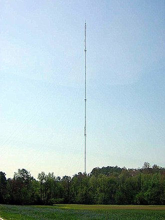 WBTV - WBTV's transmitter tower in north-central Gaston County.