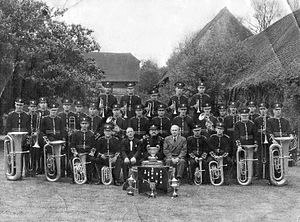 West Chiltington - West Chiltington Silver Band in 1937