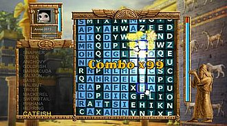 Word Puzzle (video game) - Typical gameplay screenshot.