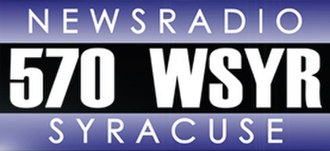 WSYR (AM) - Former logo prior to addition of 106.9 FM simulcast. It is derived from the logo of sister station WTAM in Cleveland, Ohio.