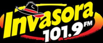 XHHOS-FM - Image: XHHOS Invasora 101.9FM logo