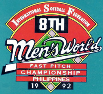 1992 Men's Softball World Championship - Image: 1992 ISF Men's Softball