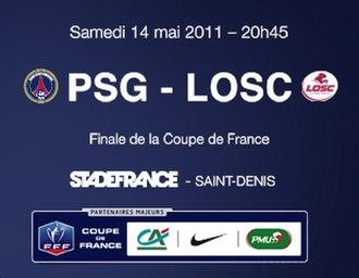 2011 Coupe de France Final - Image: 2011CDF PSG Lille