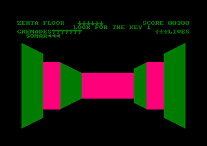 3D Monster Chase - Screen from Amstrad version