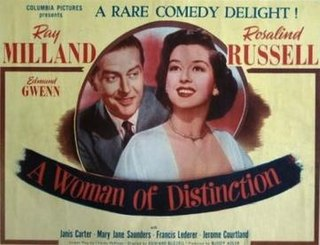 <i>A Woman of Distinction</i> 1950 film by Edward Buzzell