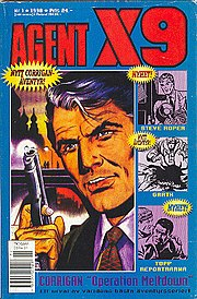 Cover of Swedish Agent X9 magazine. Art by Rolf Gohs.