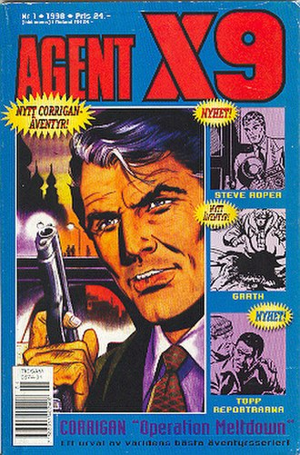 Secret Agent X-9 - Cover of Swedish Agent X9 magazine. Art by Rolf Gohs.