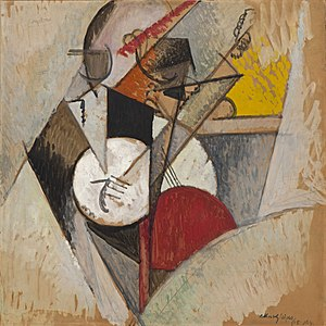 Solomon R. Guggenheim Museum - Albert Gleizes, 1915, Composition pour Jazz, oil on cardboard, 73 × 73 cm