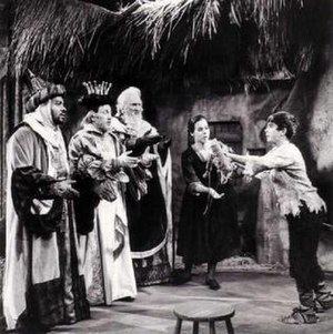 Amahl and the Night Visitors - Willis Patterson, John McCollum, Richard Cross as the Three Kings, with Kurt Yaghjian as Amahl and Martha King as his mother in the 1963 production