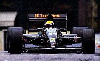 Andrea Moda Formula - Roberto Moreno in the Andrea Moda S921, at the 1992 Monaco Grand Prix, the only race for which the team qualified