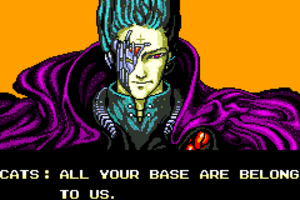 All your base are belong to us - The phrase as it appears in the introduction to Zero Wing.