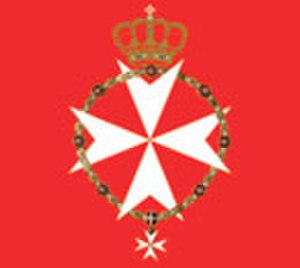 Flag and coat of arms of the Sovereign Military Order of Malta