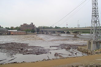 Kansas River - At flood stage