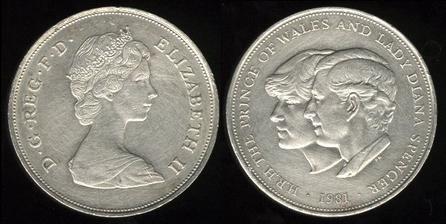 British coin 25p (1981)