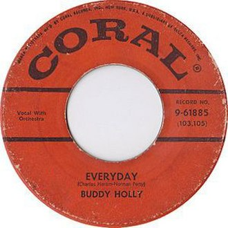 Everyday (Buddy Holly song) - Image: Buddy holly everyday coral 1957