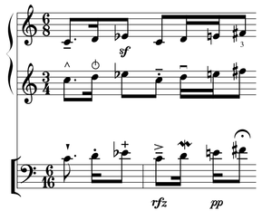 Common Music Notation - Example CMN rendering