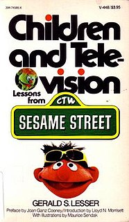 <i>Children and Television: Lessons from Sesame Street</i> book by Gerald S. Lesser