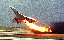 Concorde Air France Flight 4590 fire on runway.jpg