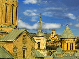 Cathedrals in old district of Tbilisi