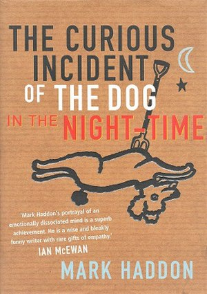 The Curious Incident of the Dog in the Night-Time - Front cover of first edition  (quote from Ian McEwan)