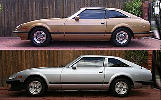 Nissan S130 - Series II (above) and Series I (below)
