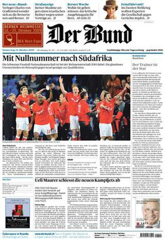 Der Bund - Image: Der Bund 15 October 2009 cover