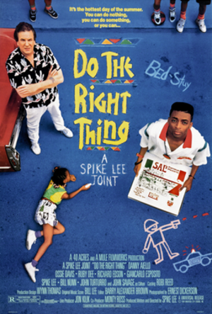 Do the Right Thing - Theatrical release poster