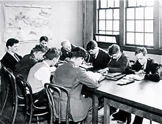 The Blake School (Minneapolis) - Early Blake boys studying